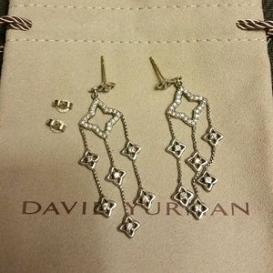 David Yurman Quatrefoil Diamond Earrings